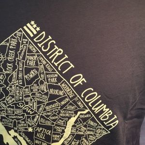 Next Level Apparel Shirts - DC Map t shirt